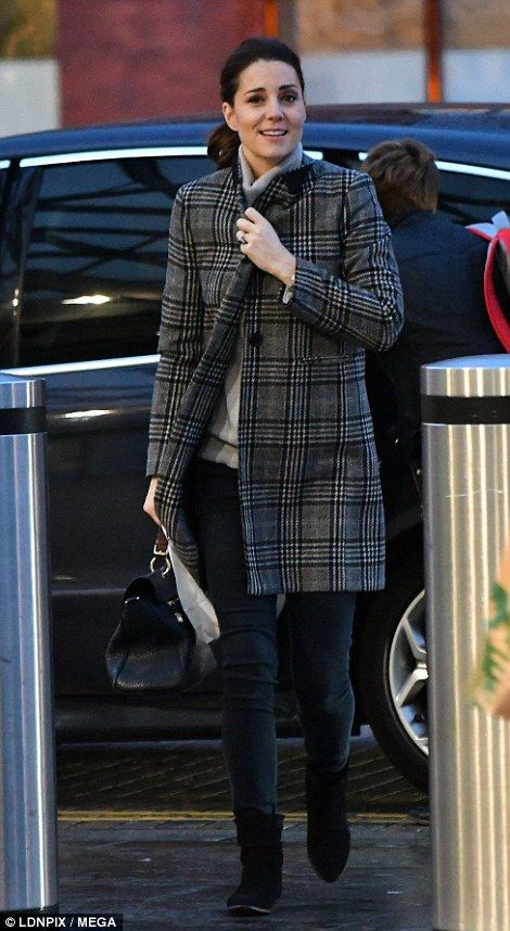 She wore a more casual ensemble as she was off-duty...