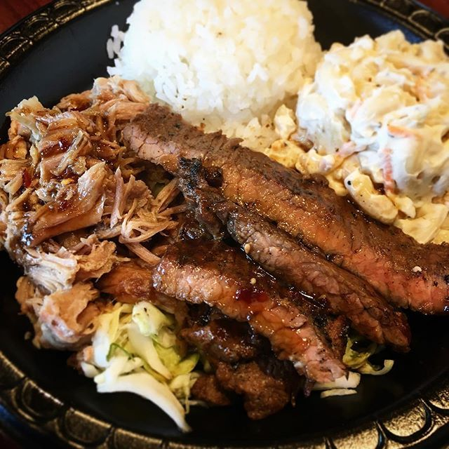 I Finally Tried Mo Bettahs For Lunch Yesterday Have You Heard Of Them They Serve Hawaiian Style Food This Is Their Min Diy Food Recipes Recipes Pork Recipes