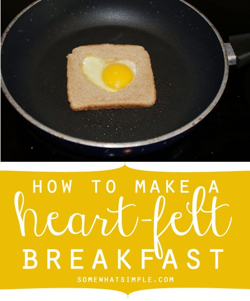 """Love this idea on making a """"heart""""felt breakfast! See what Stephanie from SomewhatSimple.com does with the leftover heart middles!"""