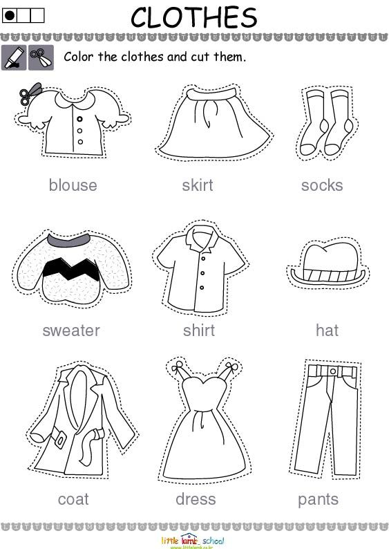 worksheet about clothes - חיפוש ב-Google
