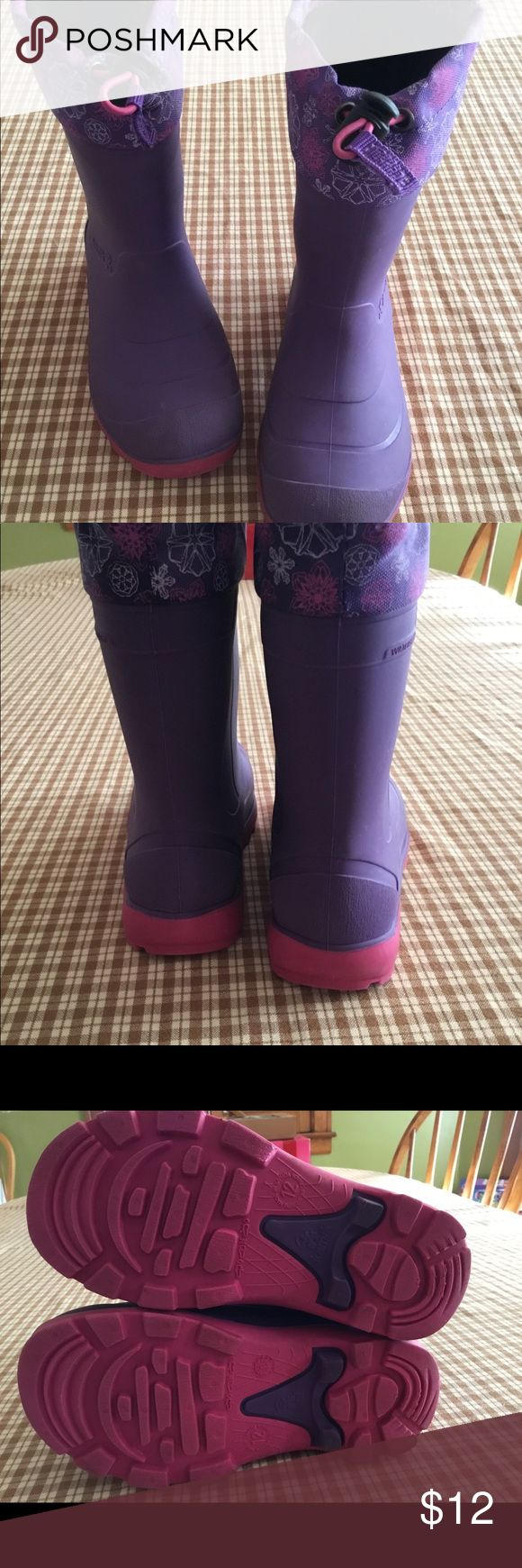 Girls Kamik Snow Boots Kids winter boots, size 12. Comes from a non smoking home. Kamik Shoes Winter & Rain Boots