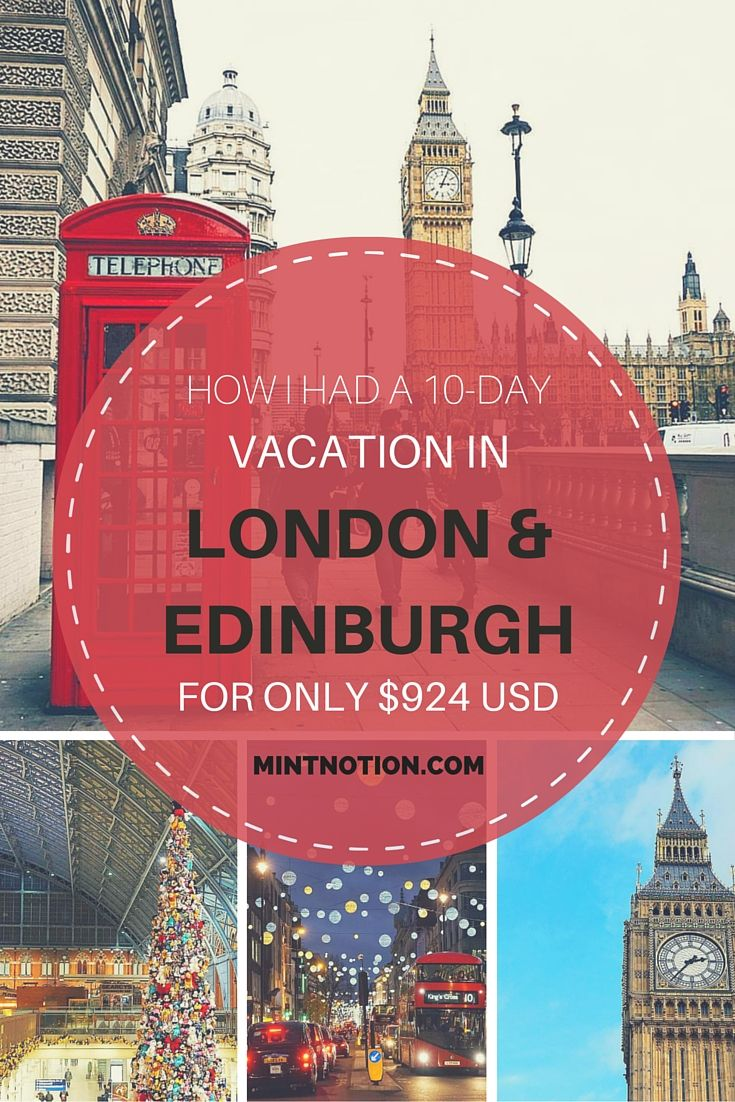 How I had a 10-day vacation in London and Edinburgh for only $924 USD. Find out the best budget tips for visiting the UK. This is such a helpful guide!