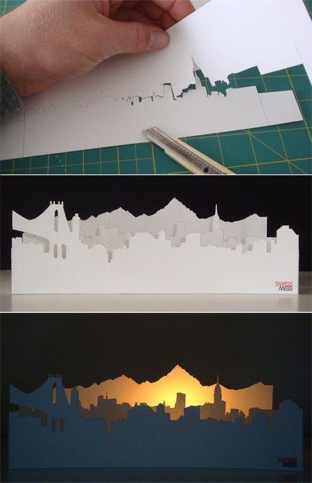 Paper cityscape value silhouettes lesson - yr ... | High School Art...
