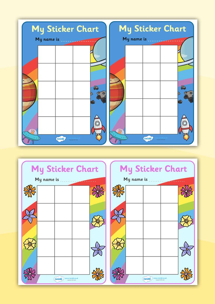 Twinkl Resources >> My Sticker Chart >> Printable resources for ...