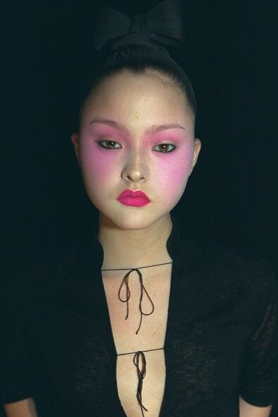 "m-a-d-o-n-n-a: "" devon aoki backstage at jeremy scott, 1999 """