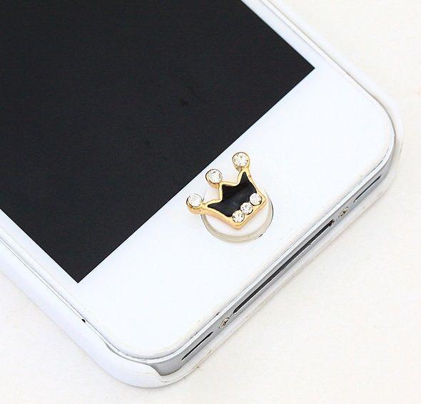 Koleksi Jewelry Pluggy (Stok Terbatas) :  Kode : AWS-194, Nama : Crown Jewelry Home Button / Pencetan Tombol, Price : IDR 35