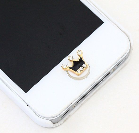 Koleksi Jewelry Pluggy (Stok Terbatas) :  Kode : AWS-194, Nama : Crown Jewelry Home Button / Pencetan Tombol, Price : IDR 35