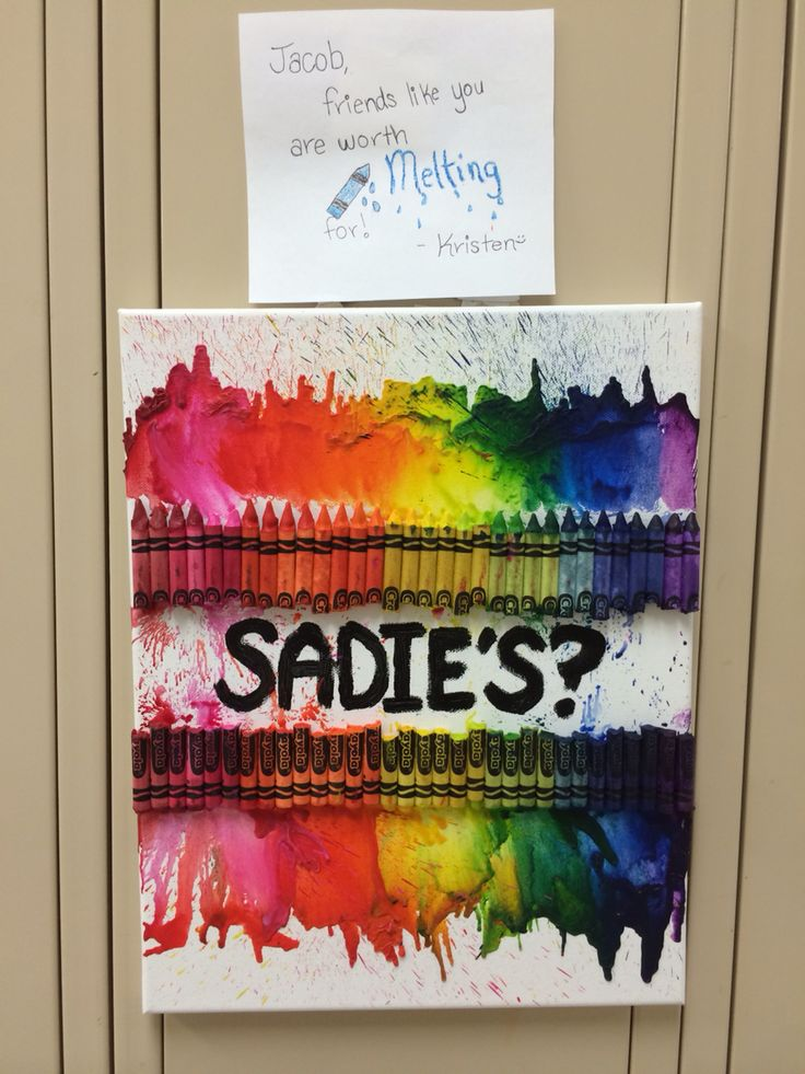 Sadie's or prom ideas! This is how I asked my friend!