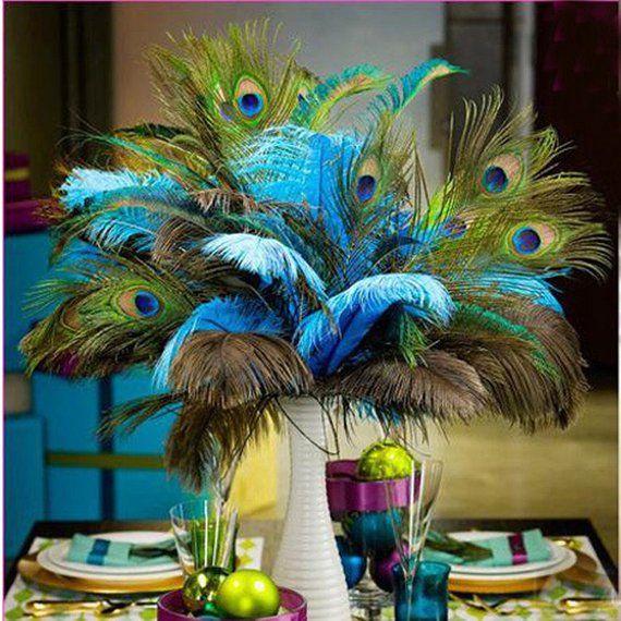 HOT SALE !!! Wholesale 100 pcs 20-30 cm Beautiful Peacock ...