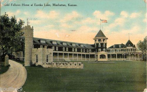 1910-Odd-Fellows-Home-at-Eureka-Lake-Manhattan-Kansas-KS-Postcard