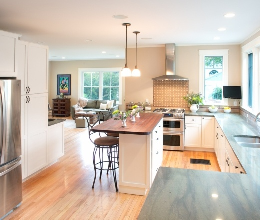 Culitvate Com Featured A Celia Bedilia Kitchen: Transitional Island Style Taupe Kitchen, White Cabinets