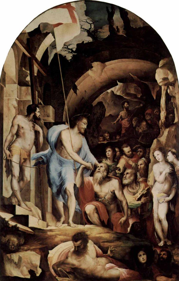 Доменико Беккафуми . Сошествие во ад. 1530-1535 Дерево. Сиена. Национальная пинакотека.