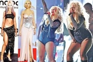 Christina Aguilera's Up and Down Weight