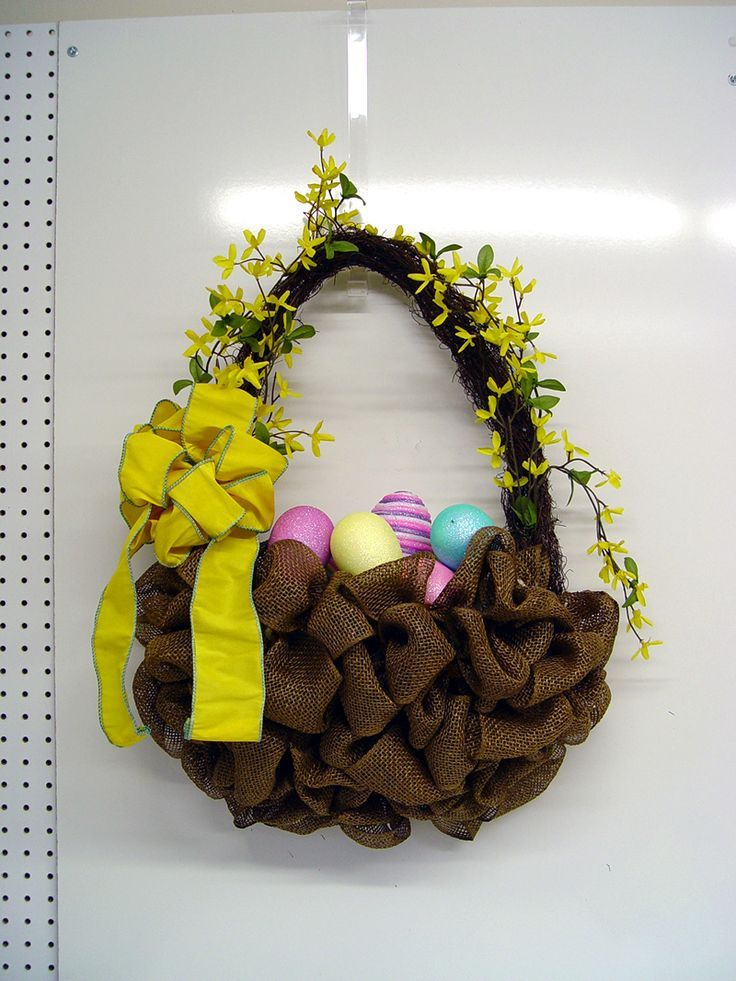 79798224619692818 Make an Easter Basket with Deco Poly Burlap and RAZ Easter Boy Chick