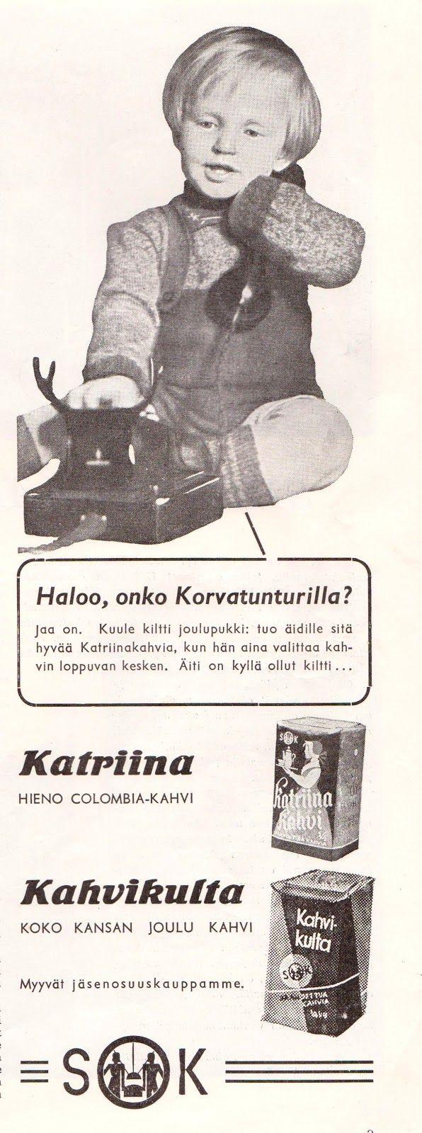 Kahvimainos 1949