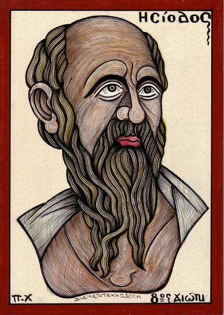 ΗΣΙΟΔΟΣ....Αρχαίος Έλληνας ποιητής του διδακτικού έπους (750-700 π.Χ.). Γιος του Δία και της Πυκιμήδης, γεννήθηκε στην Αιολική Κύμη......