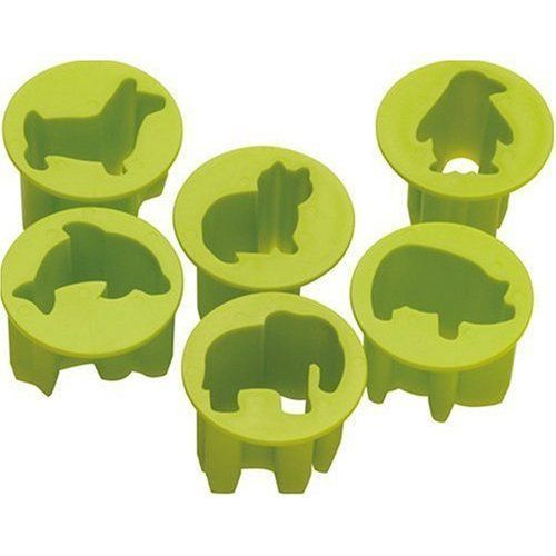 Featuring six adorable creatures: a dog, cat, pig, elephant, penguin and dolphin, these fun little creatures make perfect vegetable cut-outs for kids snacks, or fun appetizers at your next function. #Cutters #Animals #Novelty #Kitchen #Utensils #Dog #Elephant #Penguin #Dolphin #Cat #Pig #Cute #Cool #TrillionChoicesShop