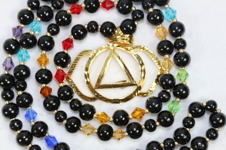 Anja chakra*3.Auge chakra*mala*Halskette*chakra Jewelry*Swarovski*Gebetskette*Meditation*Yoga*Holzmala* von MoONAmasteWithLove auf Etsy