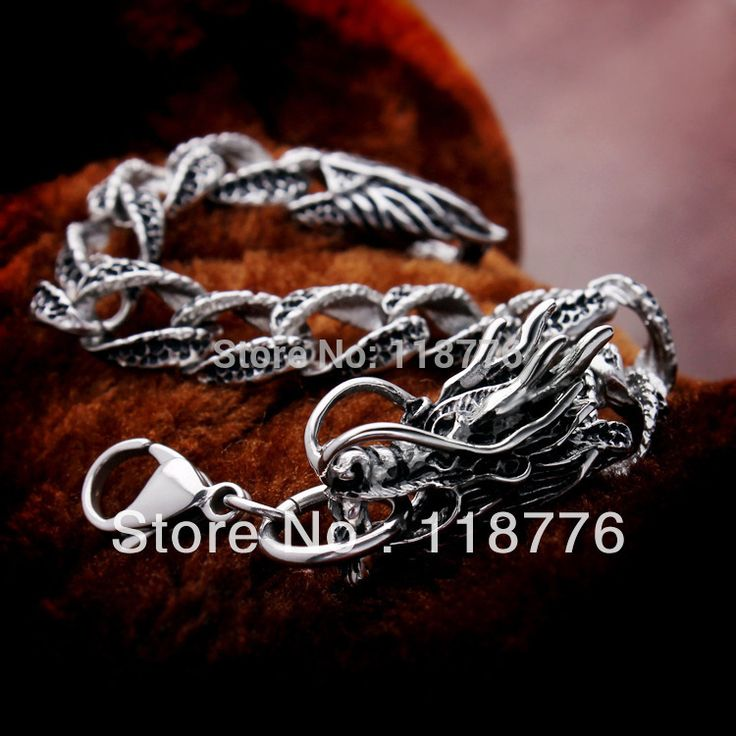 Купить товарПанк рок мода аксессуары ювелирные изделия титана из нержавеющей стали цепи китайский дракон мужская браслет браслет в категории Цепи и браслетына AliExpress.                    Внимание!                                                      Обычные