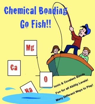 Chemical Bonding Go Fish & Other Games: A great review game for your students as the year winds down, spring fever winds up, and final exams approach. Several ways to play, differentiated for ability levels, grades 8 - 12