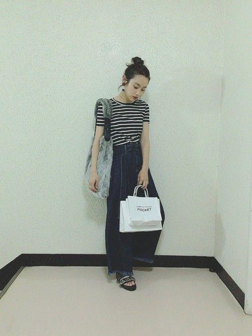 高橋愛 PETIT BATEAUのTシャツ・カットソーを使ったコーディネート - WEAR