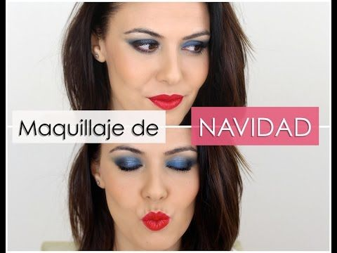 Maquillaje de navidad en azules - YouTube