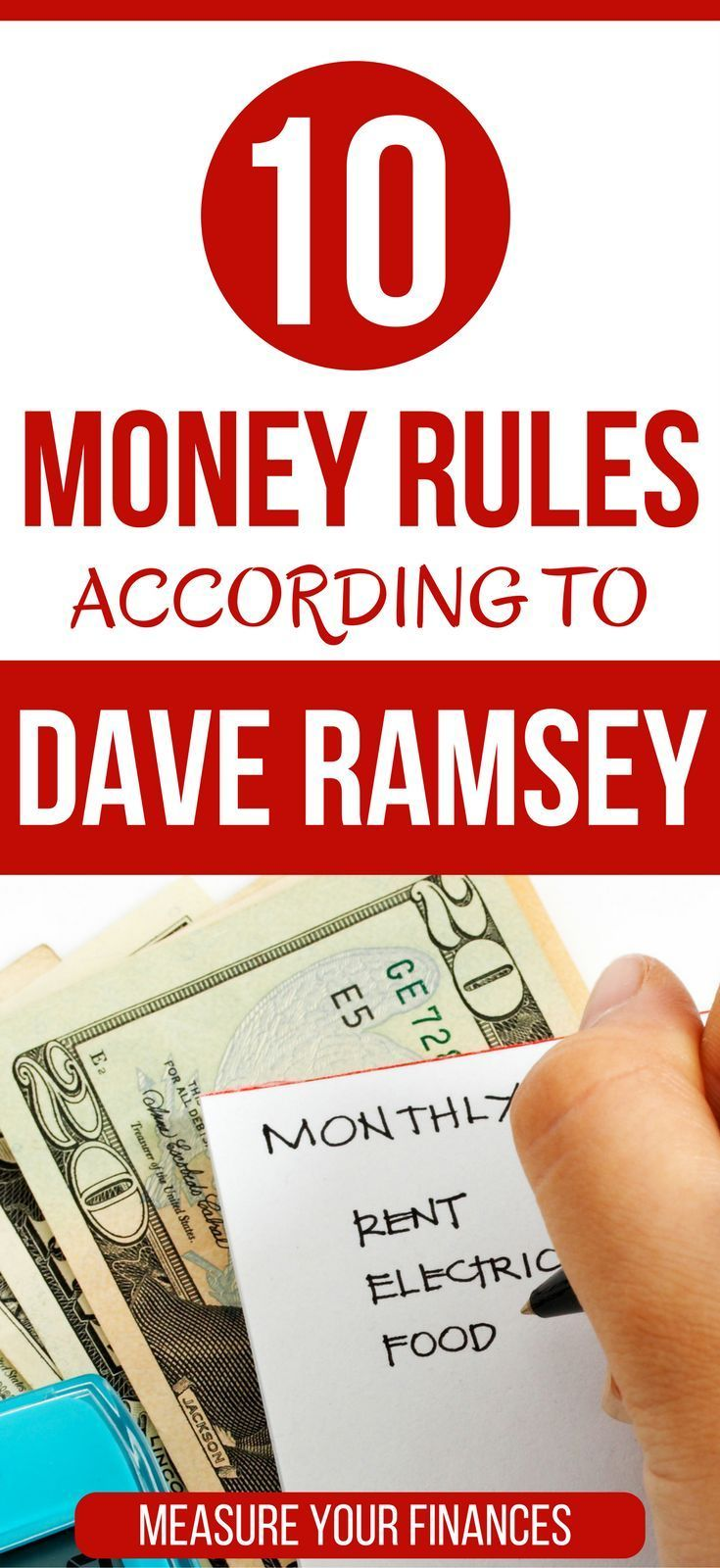 10 Simple money rules you should follow according to Dave Ramsey budgeting for beginners | getting started budgeting | investing for beginners | saving for retirement | asset allocation | buying a home first time #moneymanagement #personalfinance #money via @https://www.pinterest.com/thewaystowealth/