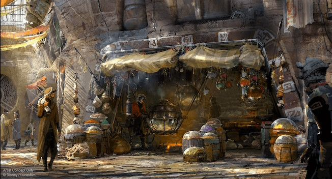 Kat Saka S Kettle Will Sell Space Popcorn At Star Wars Galaxy S Edge In Disneyland Star Wars Wallpaper Hollywood Studios Disney Concept Art