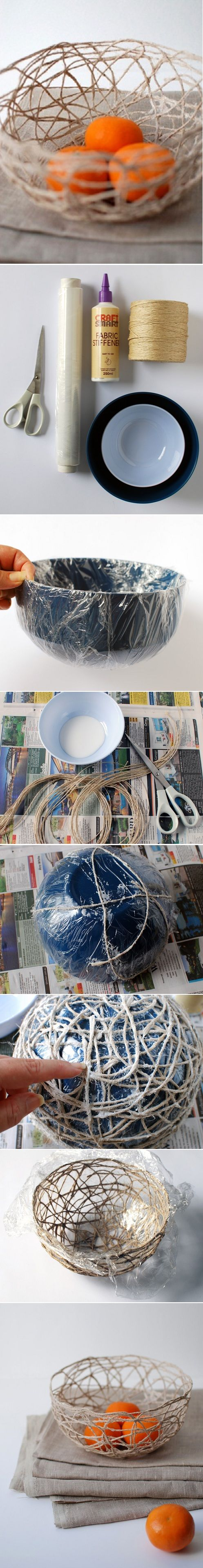 How To Make A String Bowl