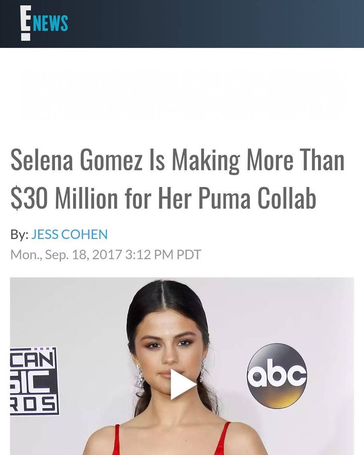 "Selena Gomez Is Making More Than $30 Million for Her Puma Collab via E!News  Selena Gomezjust made a very exciting announcement.  The 25-year-old is collaborating with Puma and will appear in the brand's upcoming women's footwearcampaign for the Phenom. ""Officially a part of the fam @puma #pumapartner"" Gomez wrote onInstagramalong with a photo of herself in her Puma gear.  In a press release about the collab Gomez said that being a part of the brand was ""very exciting"" for her. ""Puma has…"