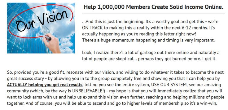 The 4% group VISION