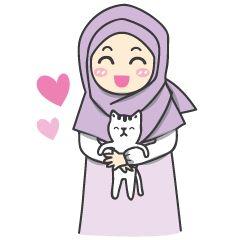 check out the Aleena cute hijab sticker by Alwaris Darakai on chatsticker.com