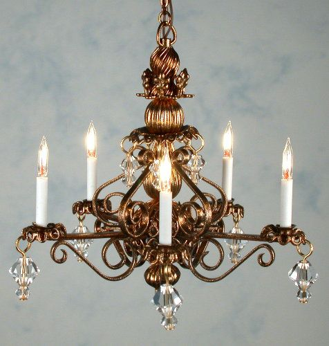 lighting for dollhouses. bluette chandlier by jgetzan lighting for dollhouses