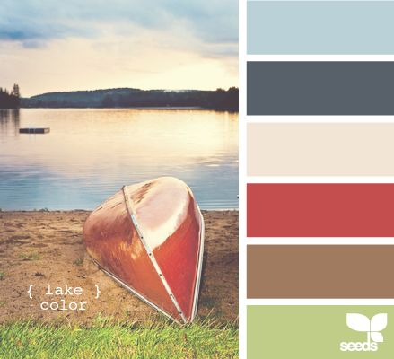 For the upstairs family room-- these lake side colors will look excellent with any Americana accessories up there!