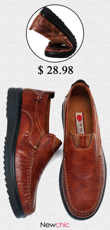 397a425a [55%off]Menico Men Large Size Retro Color Soft Sole Casual Driving Shoes  #mens #shoes #casual #retro