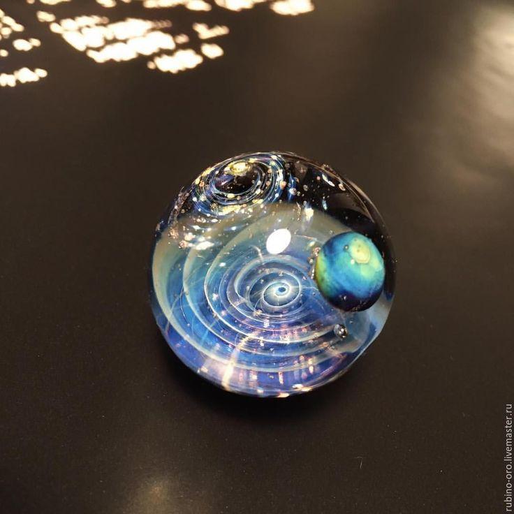 Купить Через Вселенную ( Спирали )...VIP Колье. - лемпворк, космос, галактика, стекло