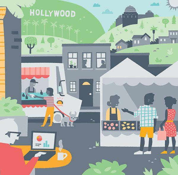 Airbnb Los Angeles on Behance - Alexander Vidal