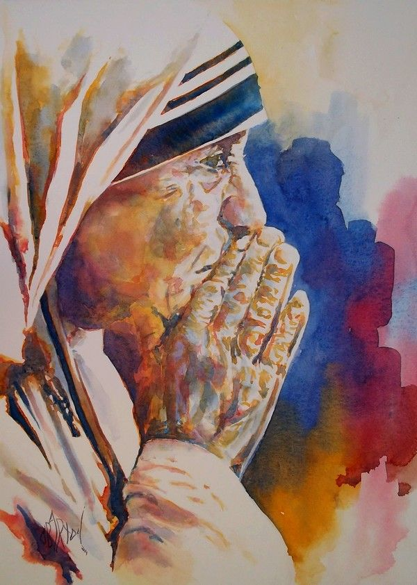 Saint Mother Teresa as painted by Olivier Bartoli