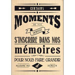 Ceratins moments de vie doivent s'inscrire dans nos mémoires pour nous faire grandir aujourd'hui et demain.