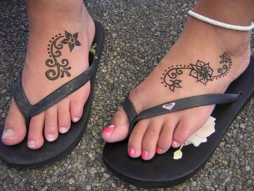 Easy Mehndi Tattoo Foot : Best henna foot tattoos for girls images