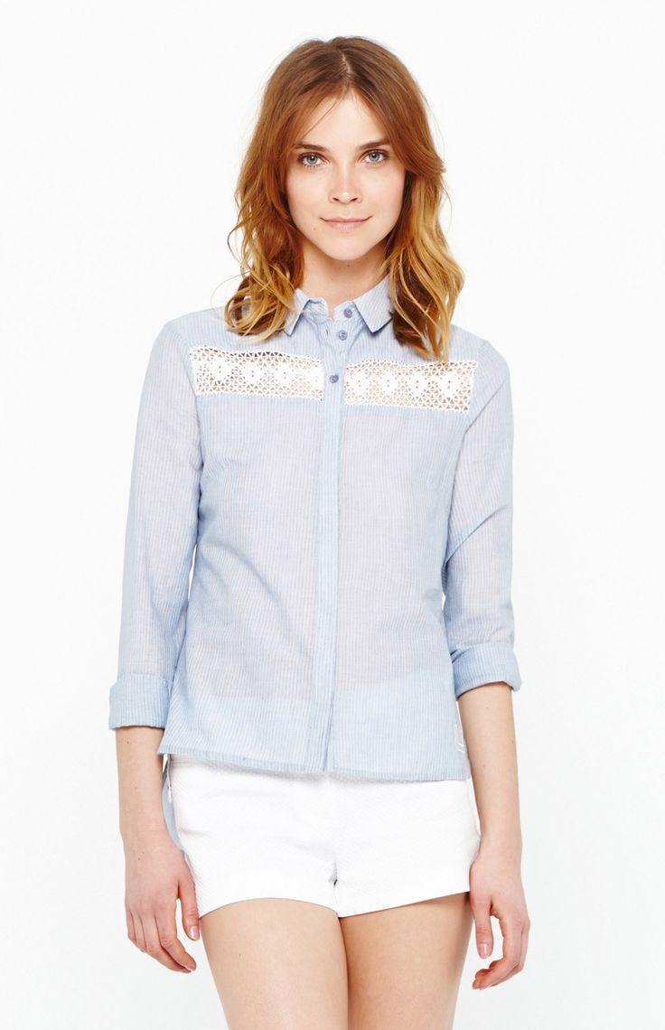 Camisa a rayas blanco azul u chica adolfo dom nguez for Adolfo dominguez outlet online