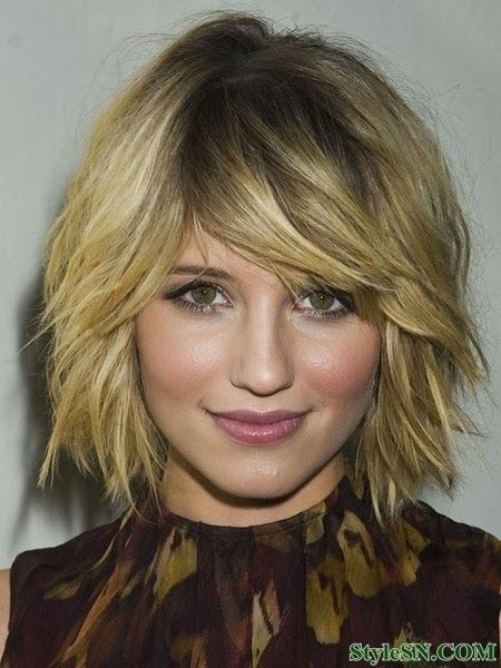 Messy Short Hair with Bangs: Women Haircuts 2015
