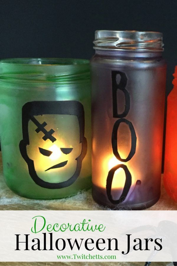 How to make fun decorative Halloween jars crafts Pinterest - create halloween decorations