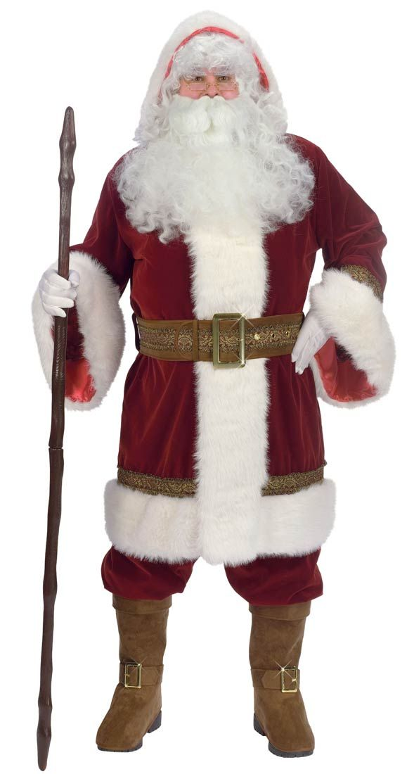 Plus Size Deluxe Old Time Santa Costume - Santa Costumes