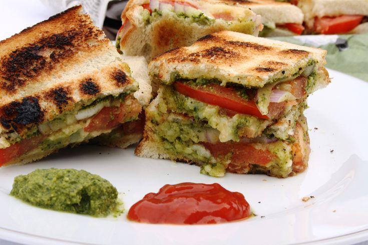 Mumbai Chilli Cheese Sandwich - Indian street food
