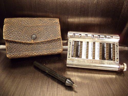 Adding-machine-a-calculer-calculatrice-Golden-Gem-USA-ancien-rare