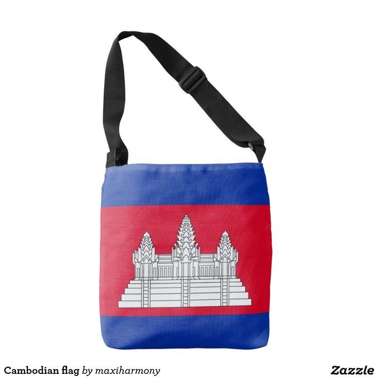 Cambodian flag tote bag