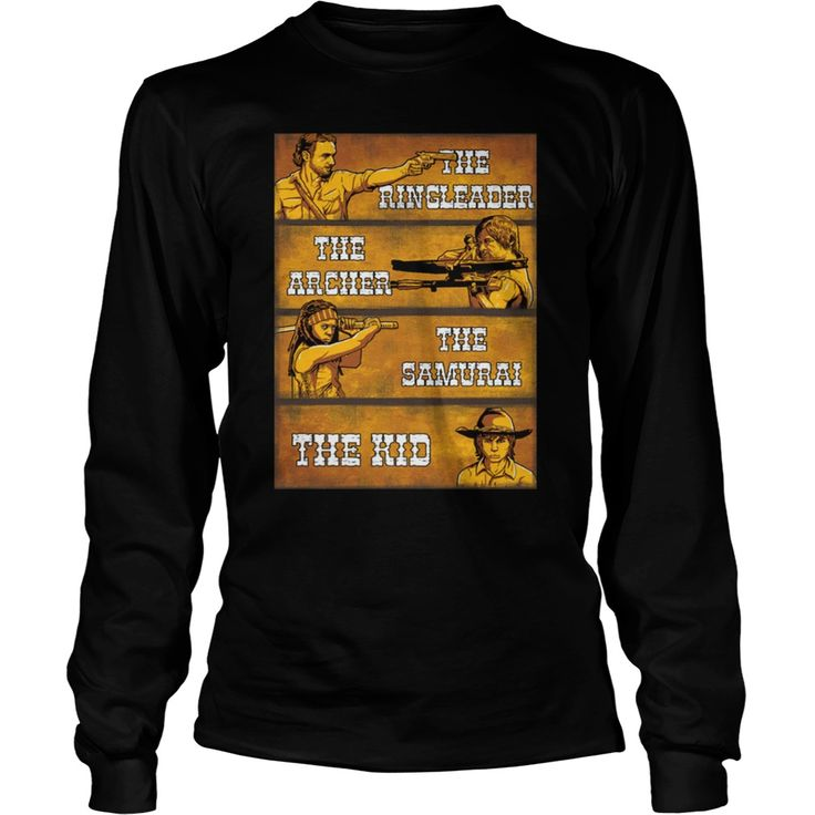 twd fans - The Ringleader, The Archer, The Samurai, The Kid. Funny Zombie Quotes, Sayings T-Shirts, Hoodies, Tees, Clothing, Gifts. #zombie