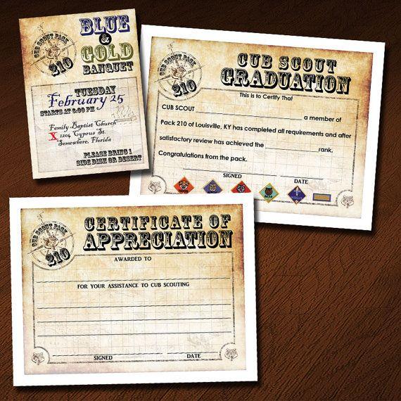 cub scout certificate of appreciation template