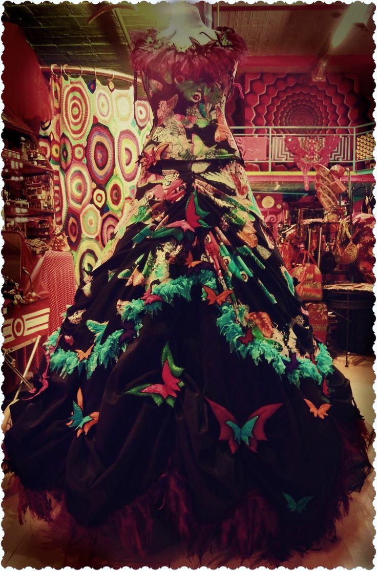 Vlinderjurk, één van de mooiste jurken die ik ooit zag !!!!